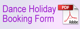 Dance Holiday Booking Form